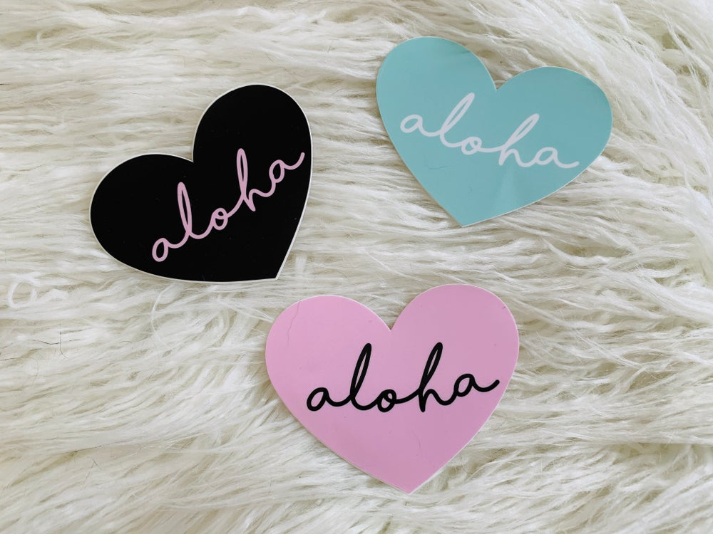 Image of Aloha Heart Vinyl Sticker