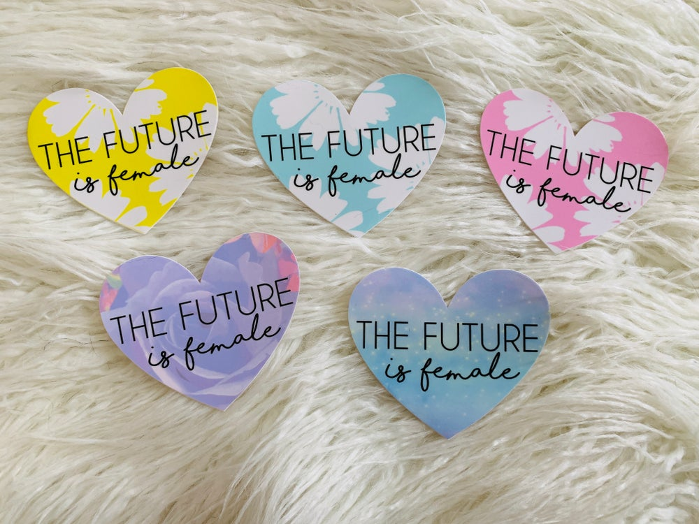 Image of The Future is Female - Heart Stickers