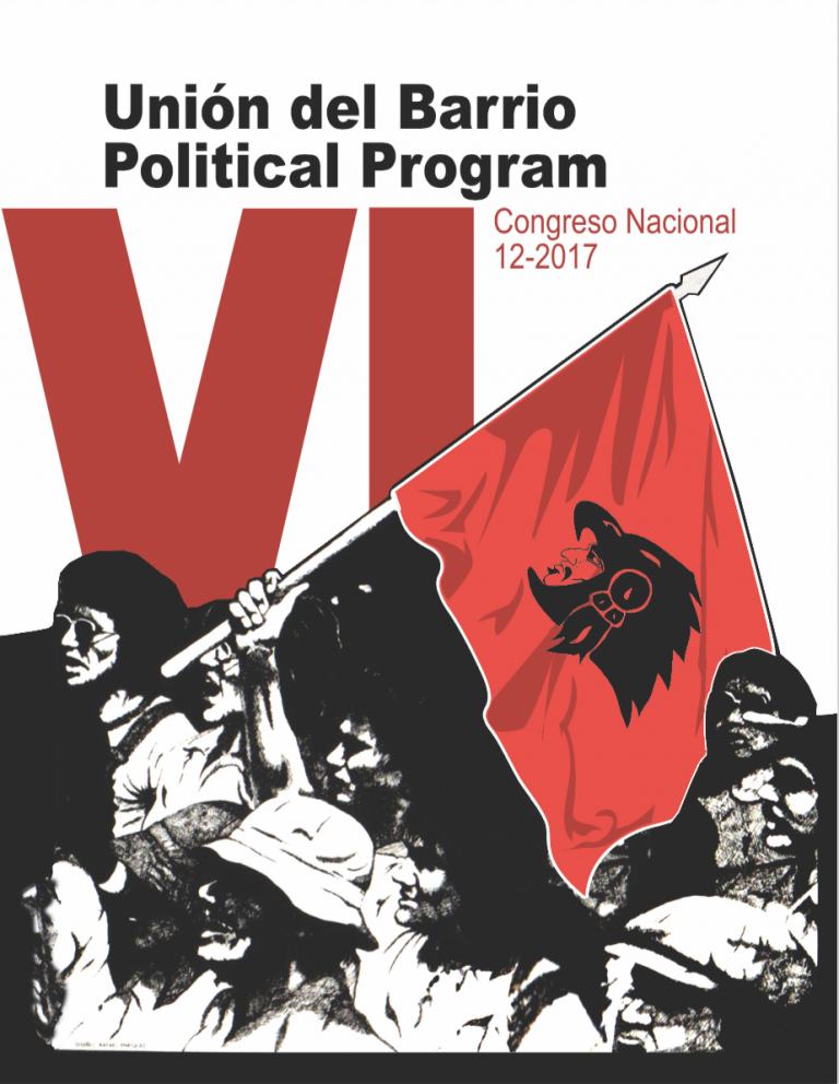Image of Unión del Barrio Political Program in English, Zapata Poster, and Informational Flyer