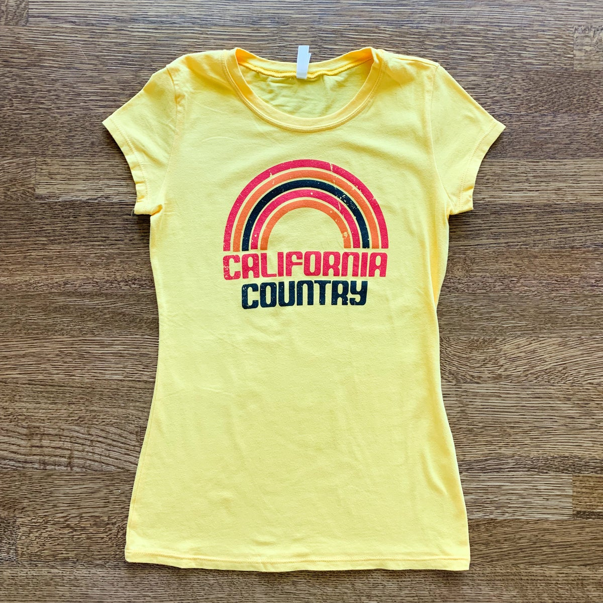 Image of California Country Womens Tee - Sunny Yellow