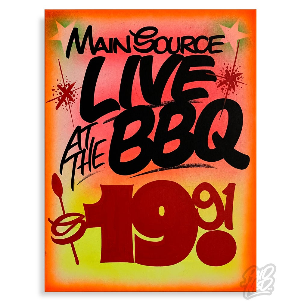 """Image of 18"""" x 24"""" - Live at the BBQ"""