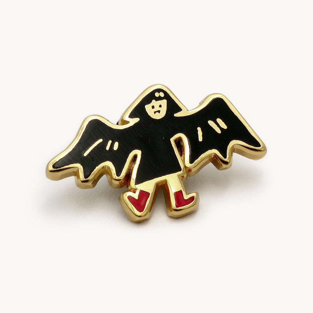 Image of Batty girl enamel pin