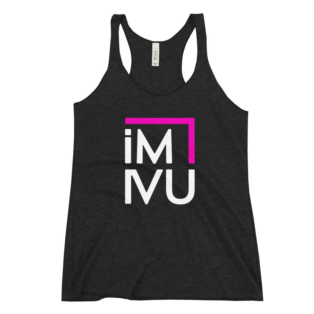 Image of im4u black racer-back tank