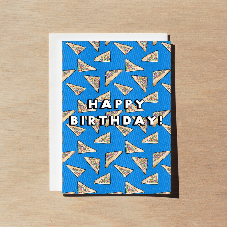 Image of Aussie Fairy Bread - Birthday Card