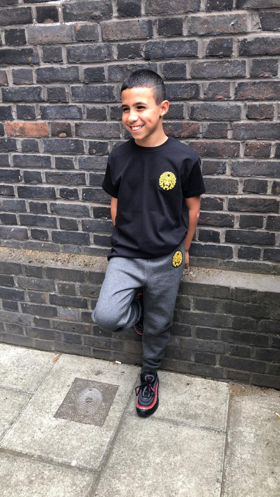 Image of Grey Badge Tracksuit Bottoms