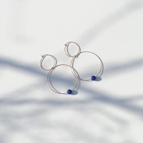 Image of Créoles bubble lapis lazuli