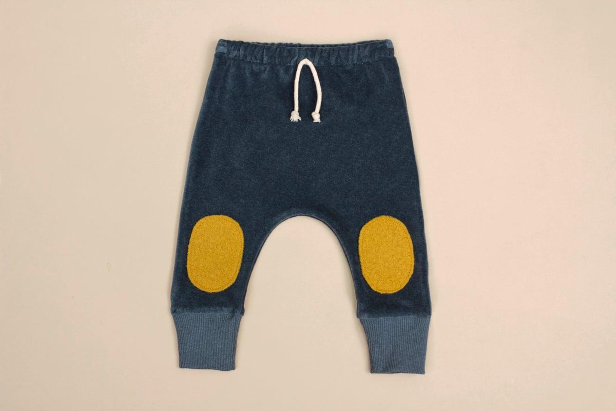 Image of Organic Nicki velour pants teal