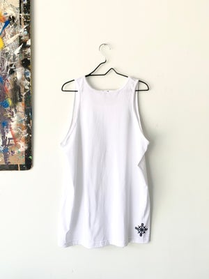 Image of no closed mouths tank in white