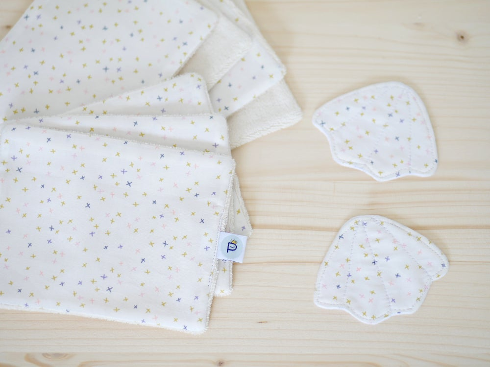 Image of Kit VACANCES | Pochette Perroquets + 7 lingettes lavables BIO Teensy