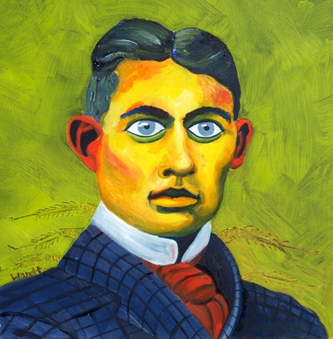 Image of Franz Kafka Giclee Paper Print