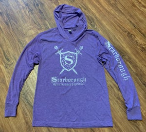 Image of Lightweight Purple Hoodie in Solid Style