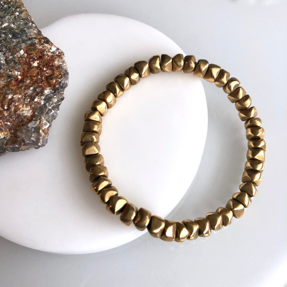 Image of Brass Nugget Bracelet