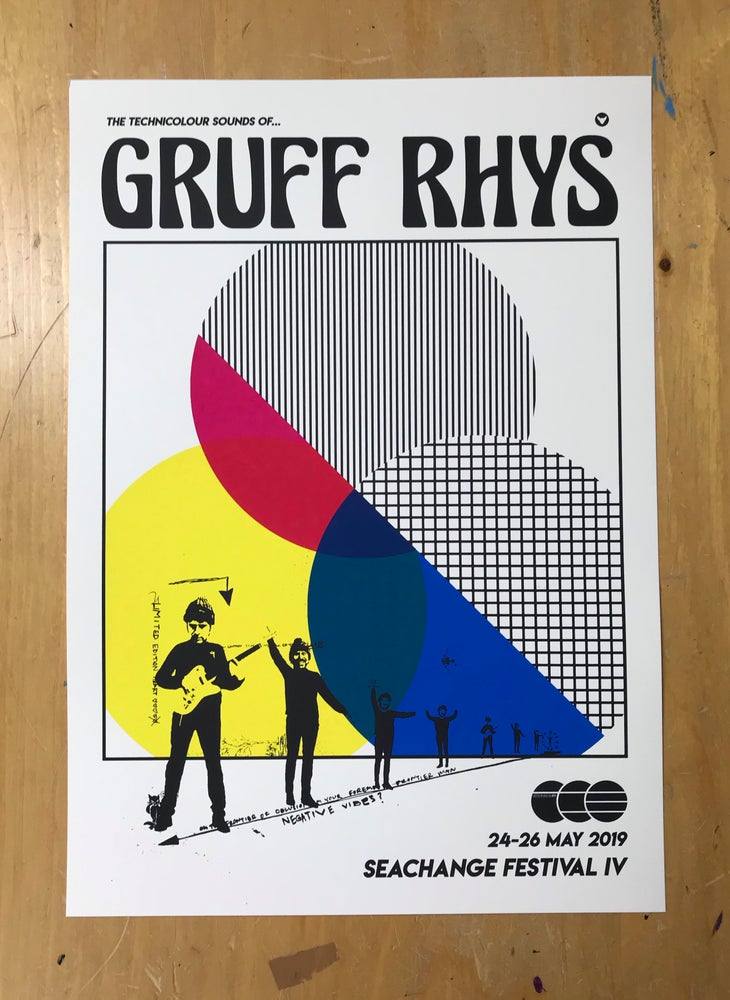 Image of ***FOUR LEFT*** Gruff Rhys screen printed poster