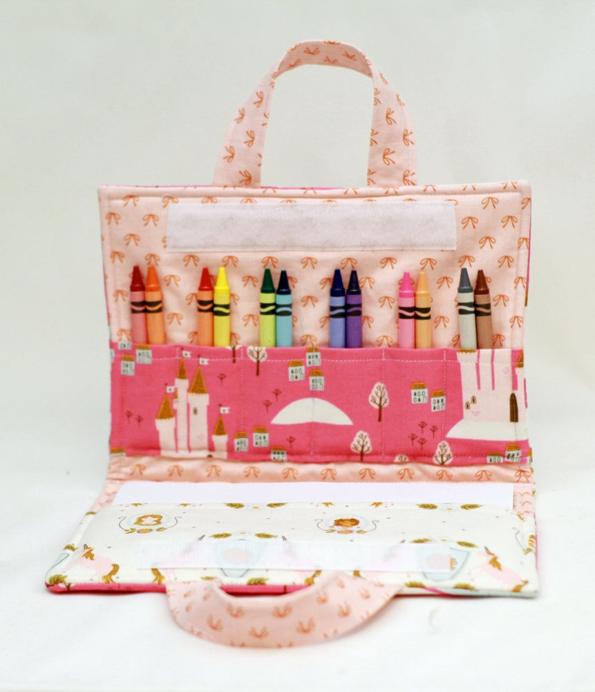 Image of Princess & Castle Crayon Art Folio Complete Sewing Kit