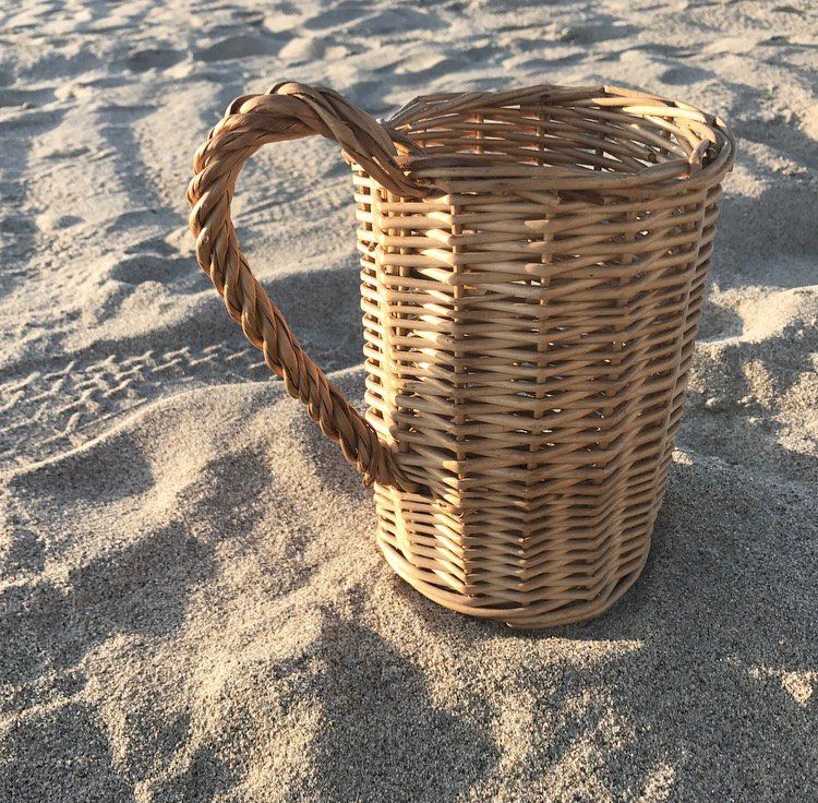 Image of Wicker Wine Holder
