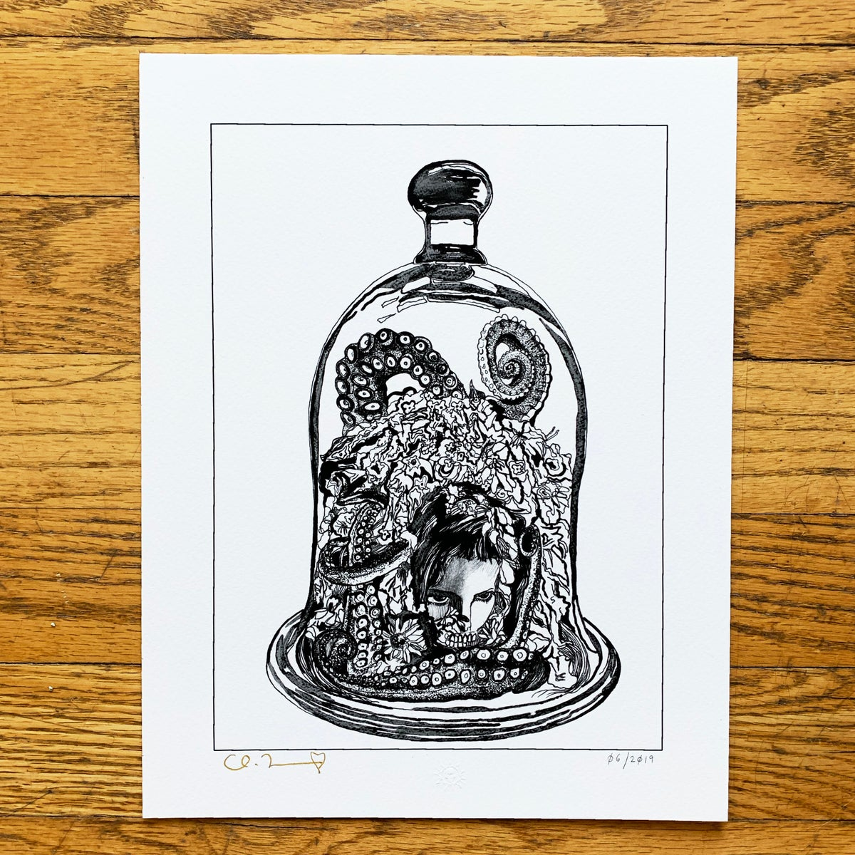 """Image of """"Dome"""" 8.5""""x11"""" Giclee Fine Art Print Open Edition"""