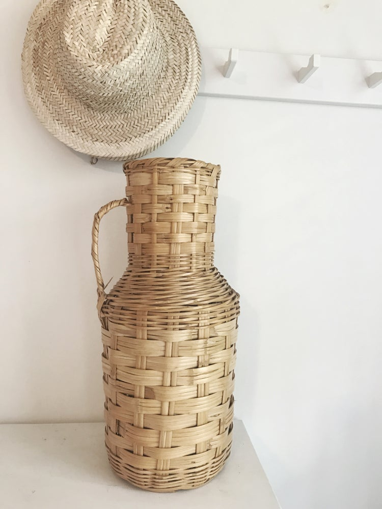 Image of Wicker Floor Vase