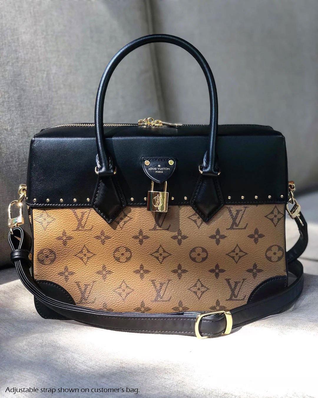 c35a5602319b4f Black Leather Strap for Louis Vuitton (LV), Coach, etc - 3/4