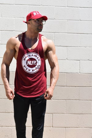 Image of VENICE SCOOP TANK BURGUNDY