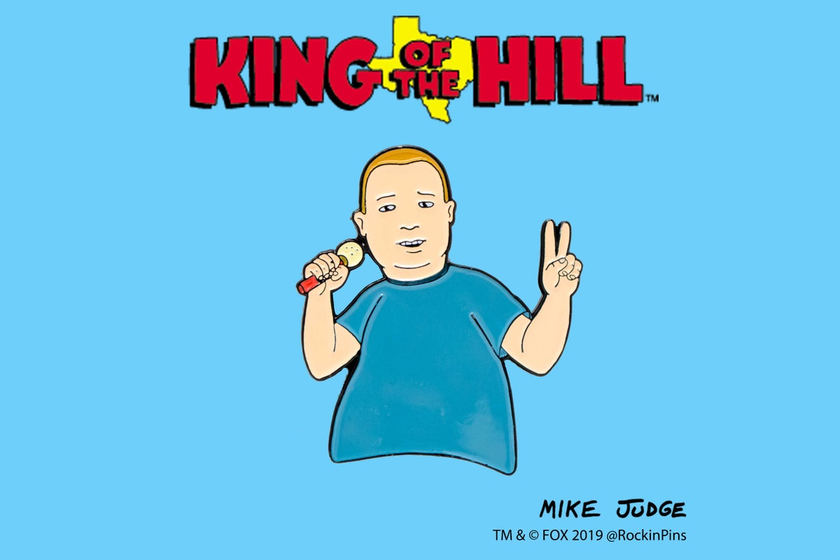 King Of The Hill Bobby Hill With Mic Rockin Pins