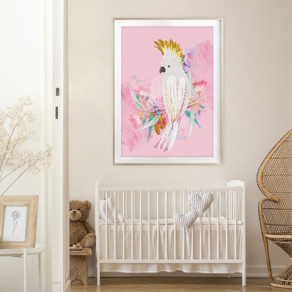Image of Pink Cockatoo - Art Print