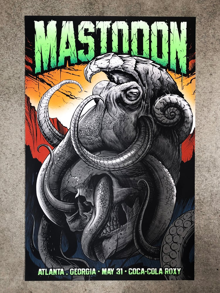 Image of Mastodon Atlanta Poster