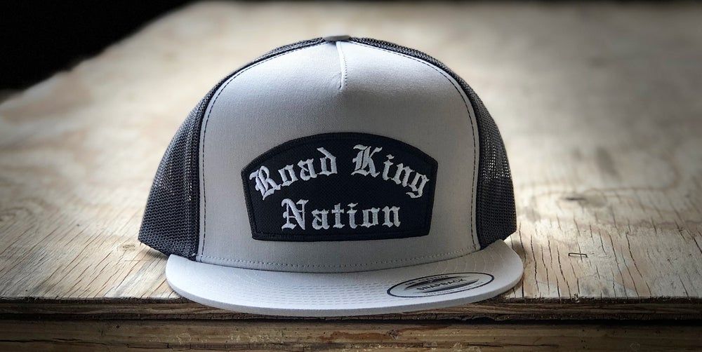 Image of R.K.N. Patch hat (light grey and black)