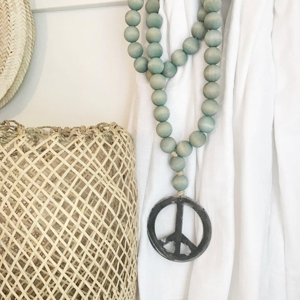 Image of ORIGINAL LOVE BEADS - FADED DENIM PEACE