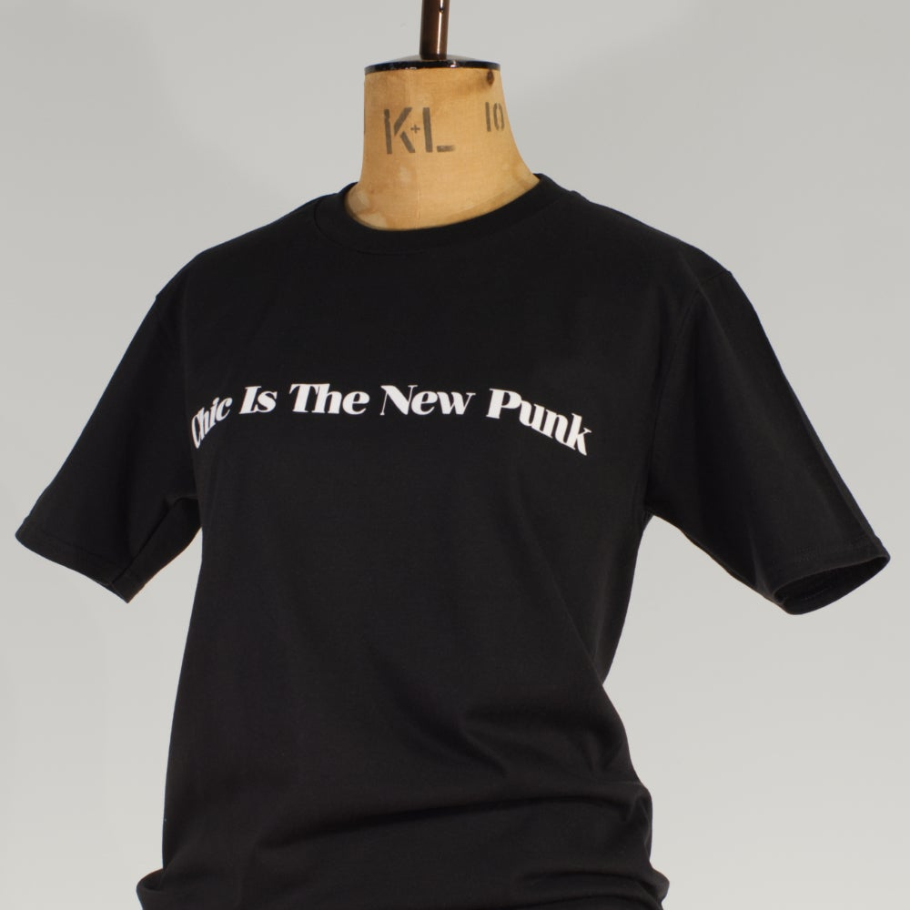 Image of NY black Tee 'Chic is The New Punk'