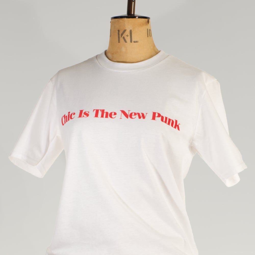 Image of NY White Tee 'Chic Is The New Punk'