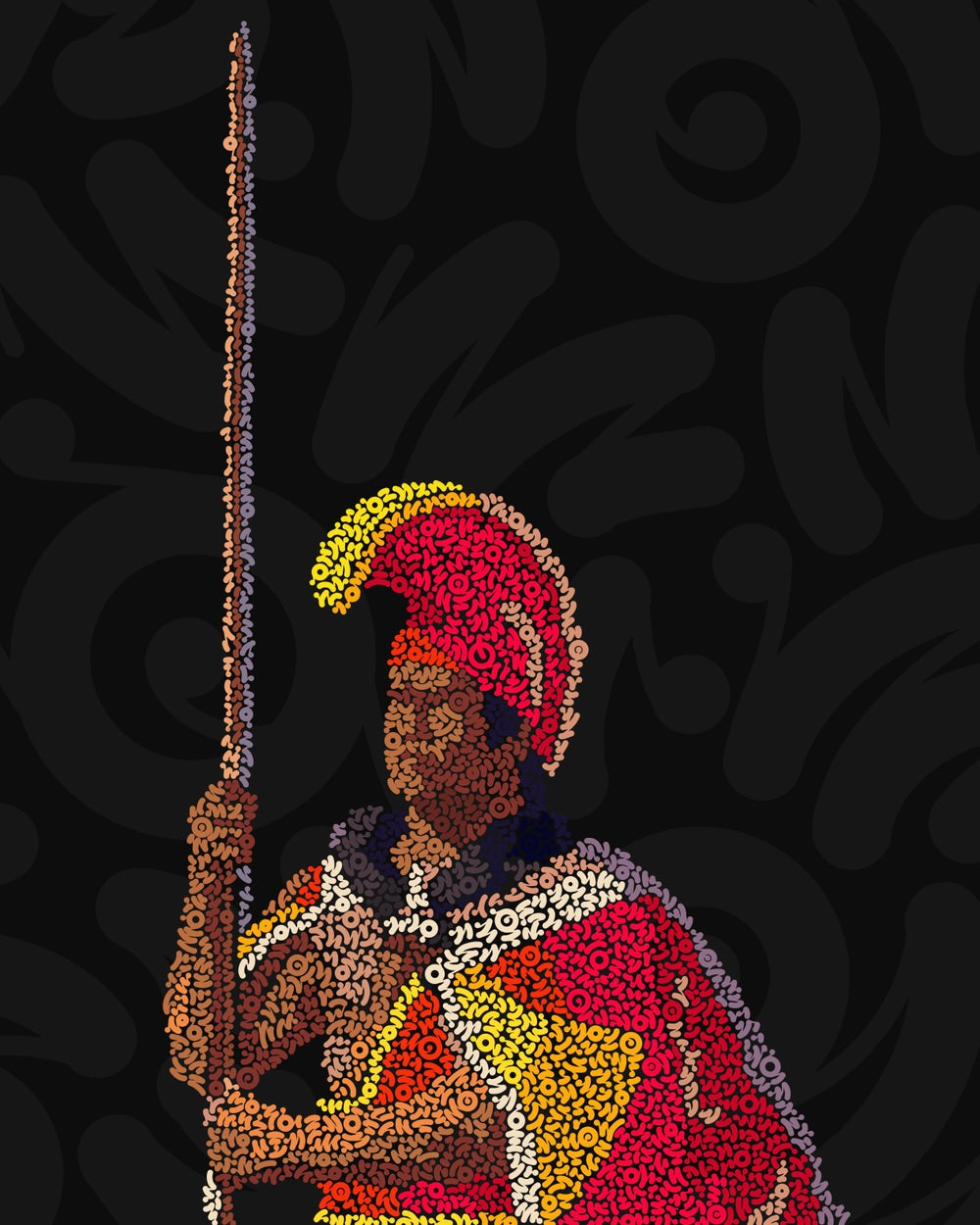Image of King Kamehameha Squiggles- Limited Edition Print