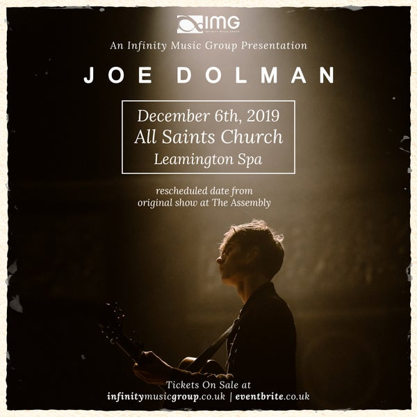 Image of Concert tickets, Joe Dolman @ All Saints Church, Leamington Spa 06/12/19
