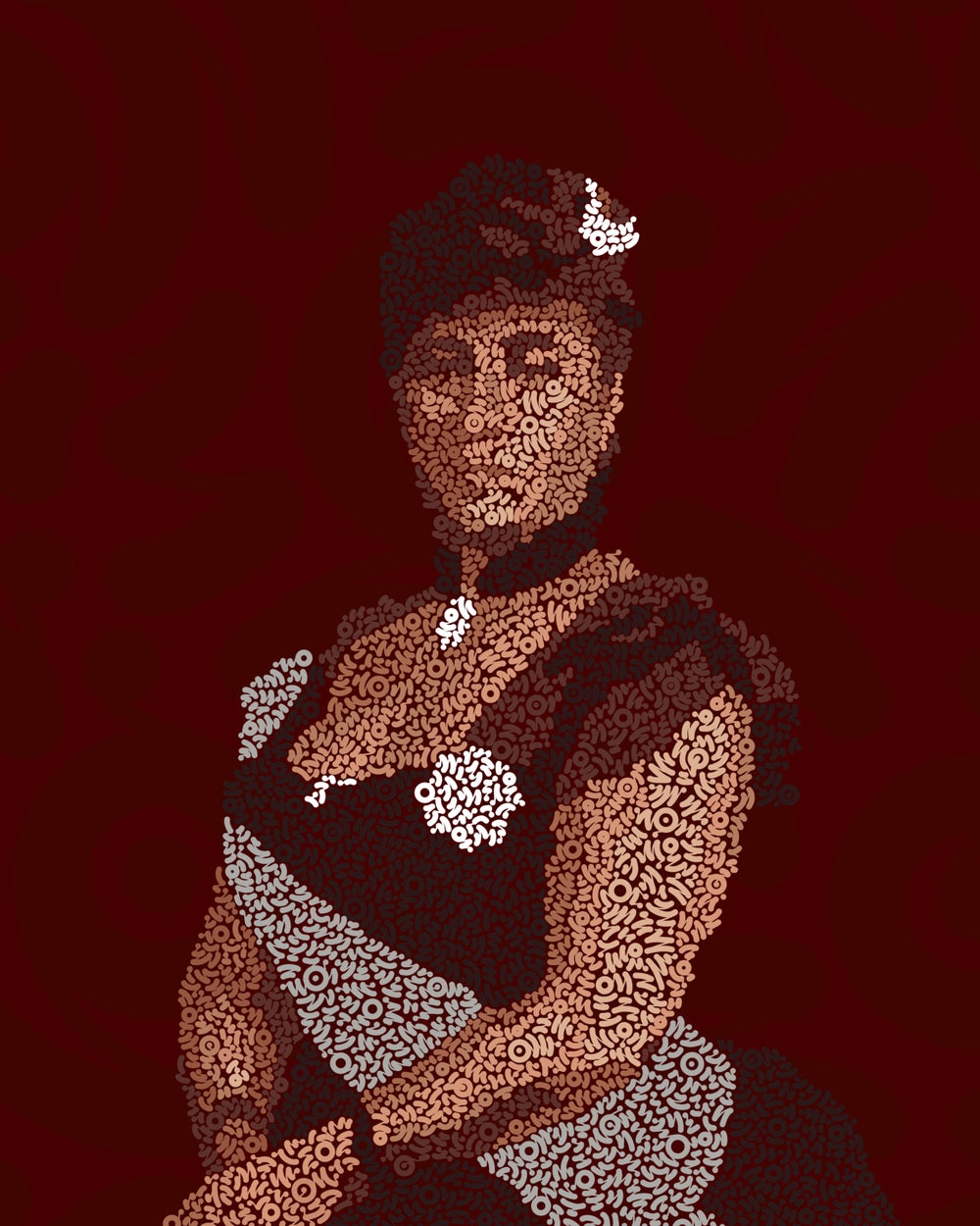 Image of Queen Liliʻuokalani Squiggles- Limited Edition Print