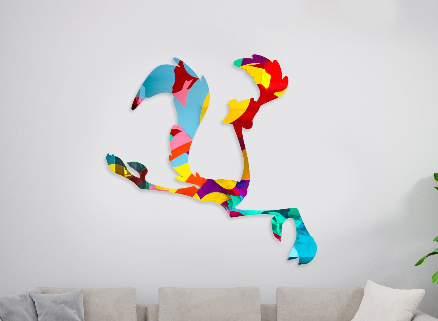 Image of Road Runner mirrors sculpture