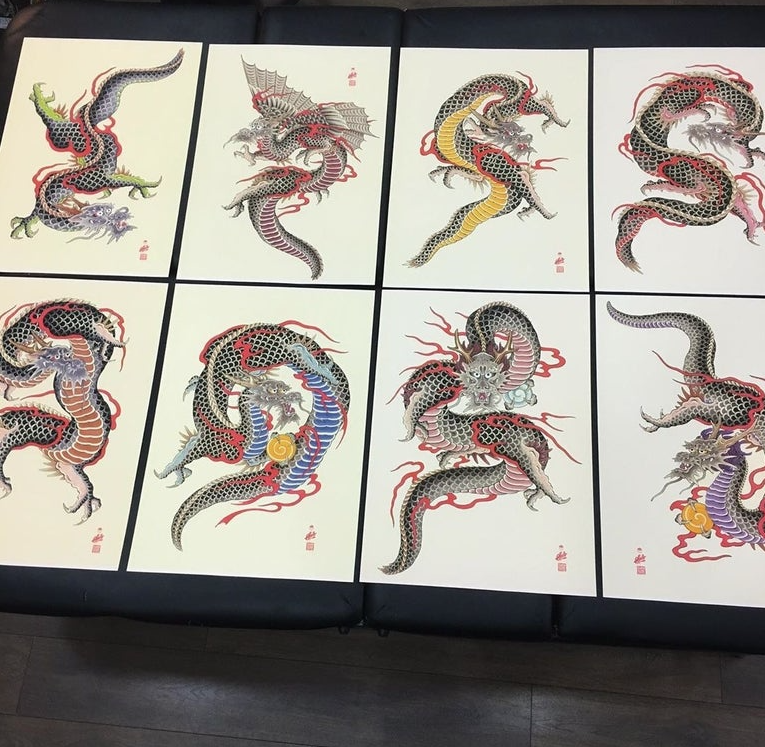 Image of Dragon print by Spillo