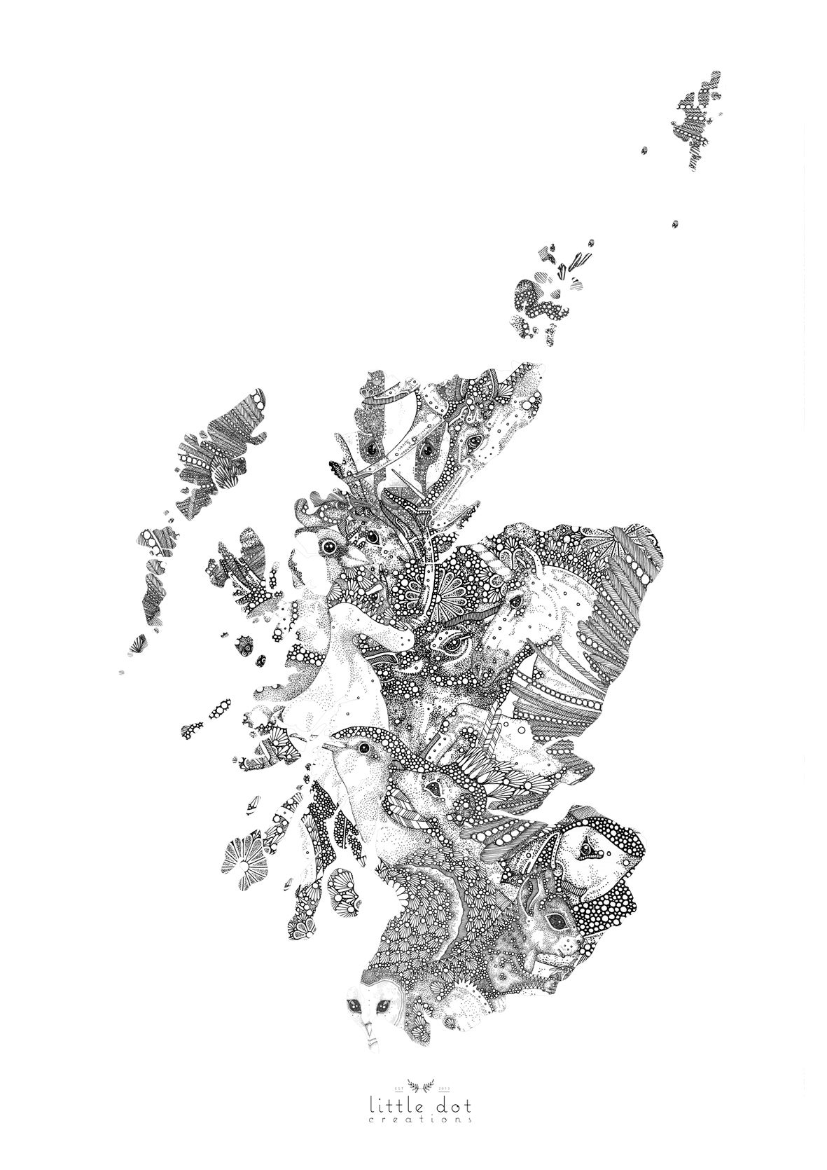 Image of Bonnie Beasts O' Scotland (Map)