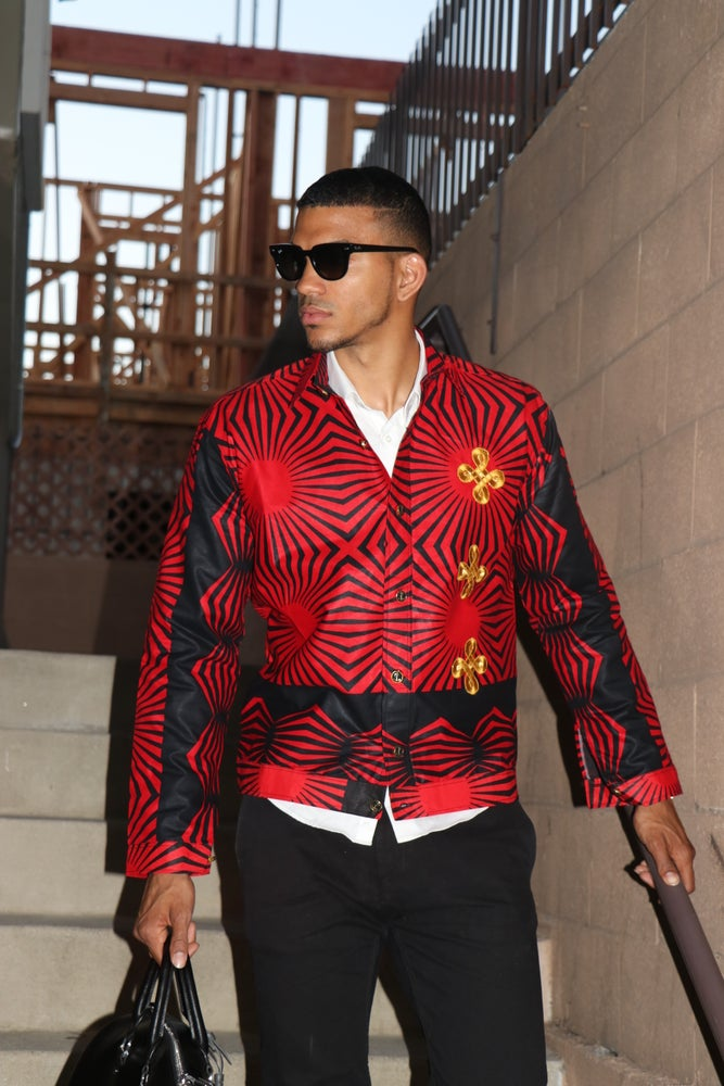 Image of The sikani jacket - black red