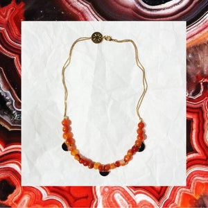Image of Collier ancien Agate rouge