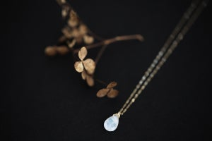 Image of Large Rose cut Moonstone necklace