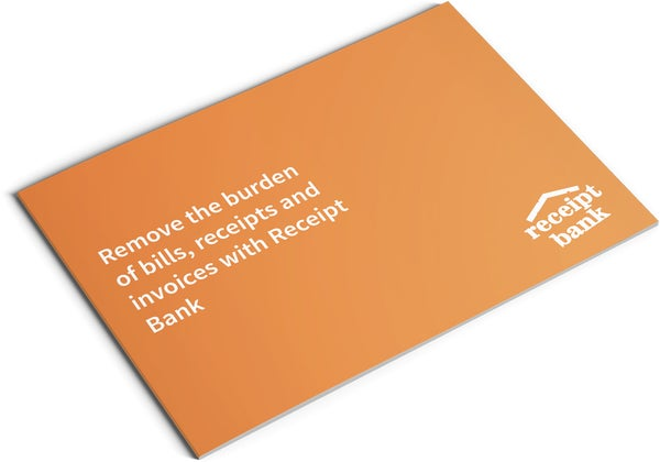 Image of Receipt Bank Set Up and Training Brochure Design