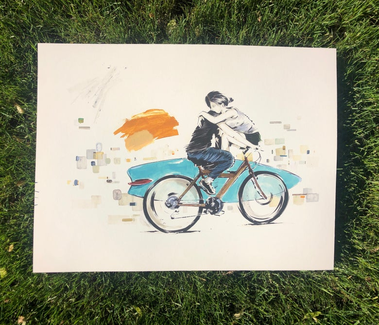 Image of Mark Penxa - Bike Ride - Fine Art Print