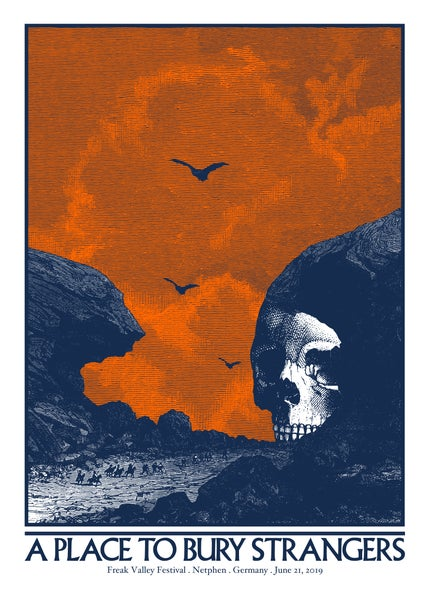 Image of A PLACE TO BURY STRANGERS gigposter - Freak Valley Festival Netphen - Germany June 2019