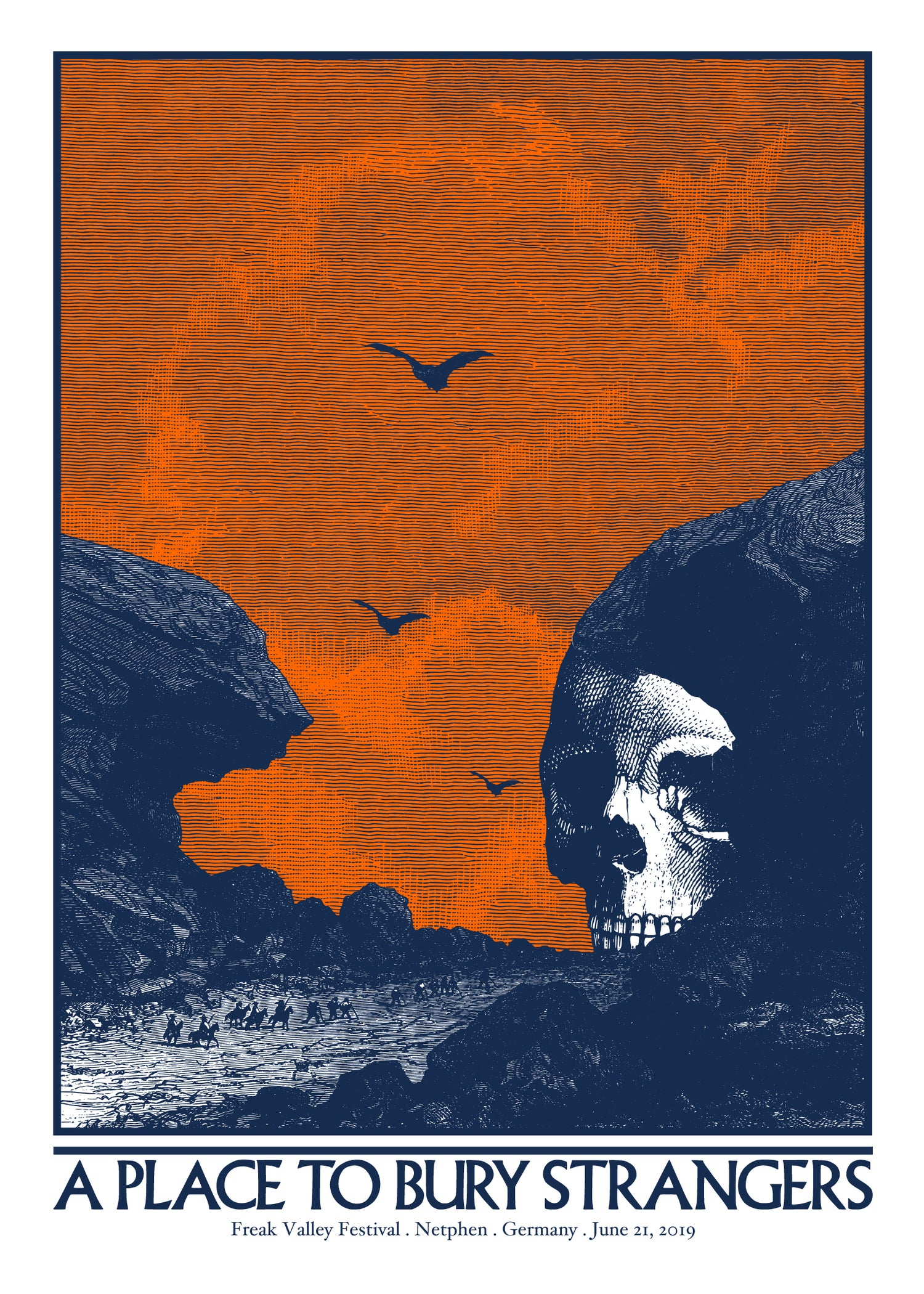 A PLACE TO BURY STRANGERS gigposter - Freak Valley Festival Netphen - Germany June 2019