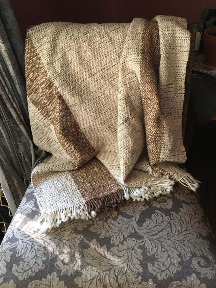 Image of Alpaca/Chenille Throw (beige)