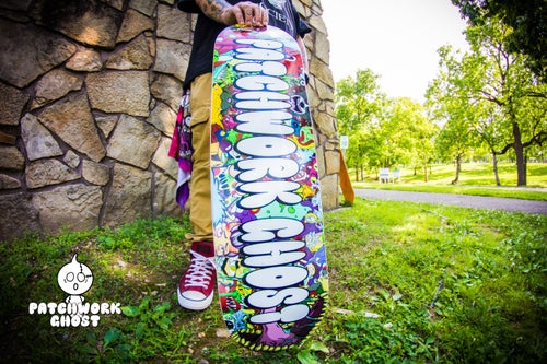 Image of Patchwork Ghost Skateboard