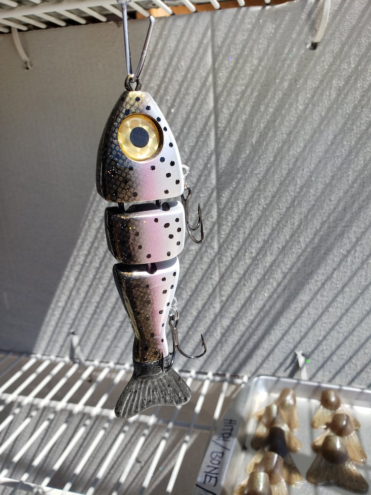 Image of 5 inch stubby, silver trout.
