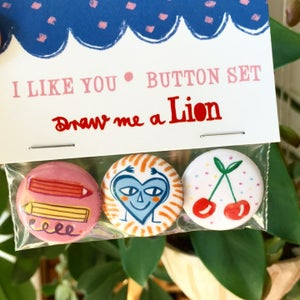 Image of I Like You! Button Set of 3