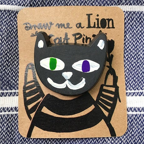 Image of Hand painted Cat Pin