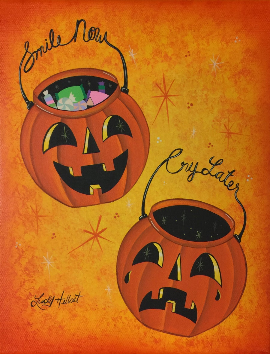 Image of Smile Now Cry Later Pumpkin Pails 8x10 Print