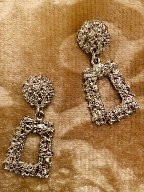 Image of  Silver Vintage Inspired Earrings